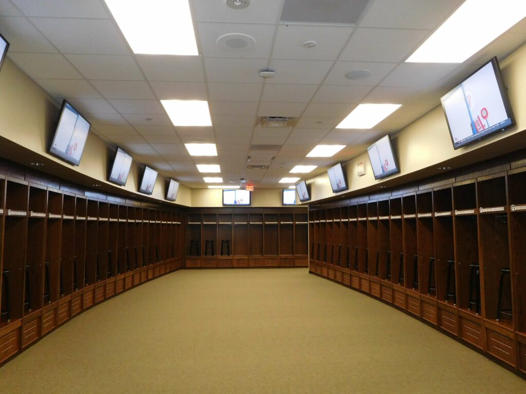 Educational Athletic Facility Locker Room